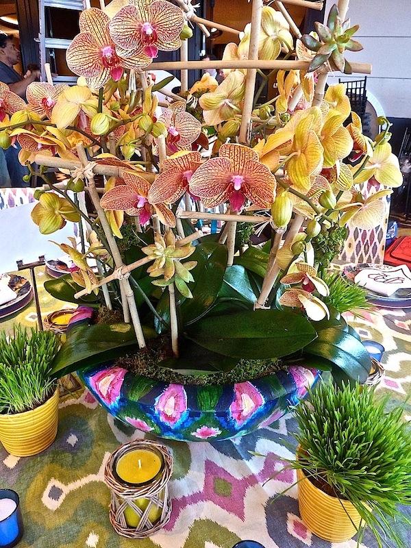 Danielle Rollins orchid dinner centerpiece