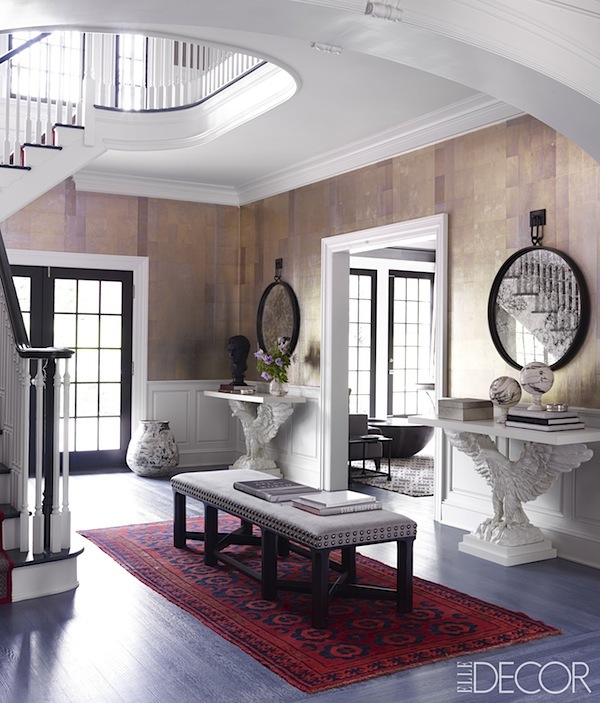 Foyer Room Nyc : St peek thom filicia does greenwich in elle decor