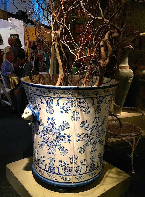 Finnegan Gallery 19th c. French planter at Antiques & Design Show of Nantucket