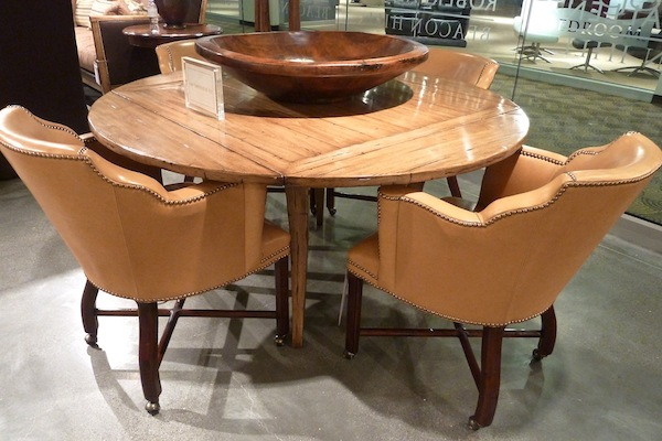 Guy Chaddock Fruitwood Table And Leather Chairs Quintessence