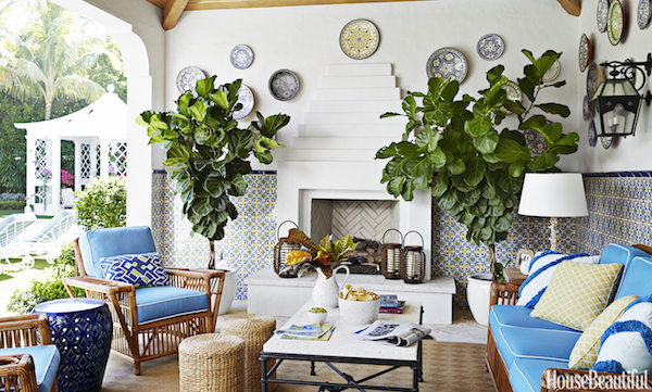 Palm Beach style by Kemble Interiors in House Beautiful