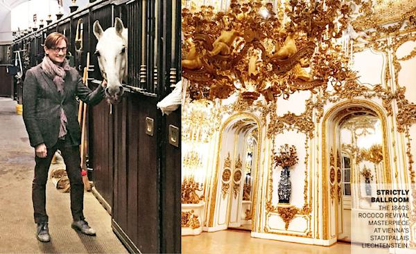 Hamish Bowles in Vienna in Vogue