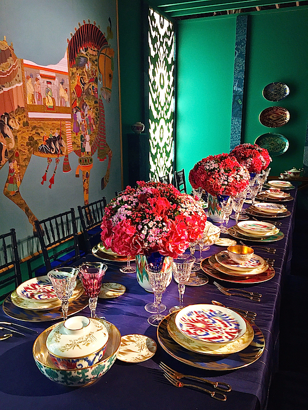 Hermès chic table at DIFFA Dining by Design