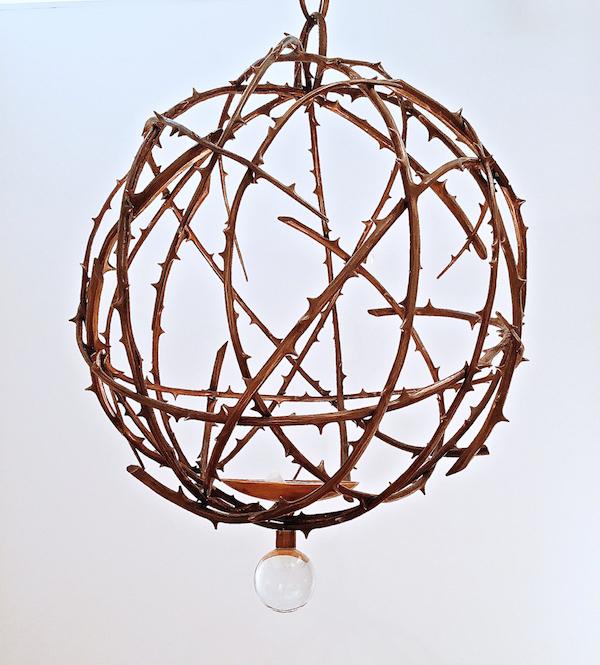 Herve van der Straeten Rosier chandelier at Christie's design auction