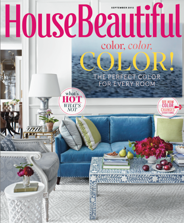 Ashley Whittaker project on the cover of the September House Beautiful