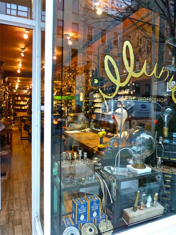 Lighting repair shop  Illumé in NYC