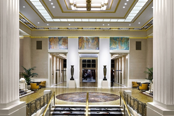Alexandra champalimaud design for the lobby at the waldorf astoria