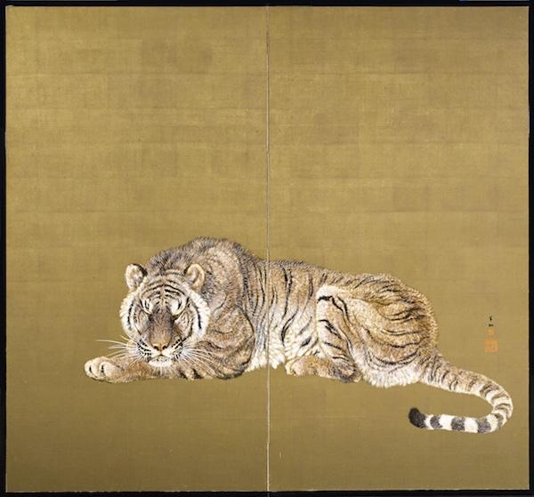 Folding Screen by Ohashi Suiseki from Kagedo Japanese Art at the International Show