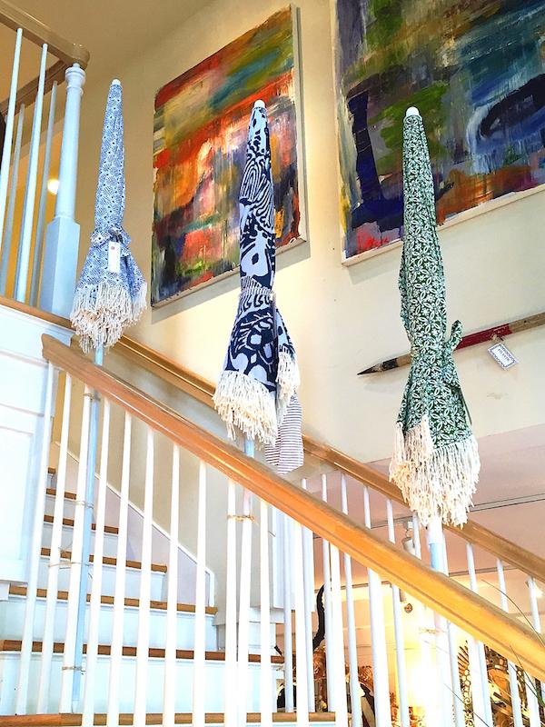 Kerry Cassill umbrellas at Atlantic Nantucket