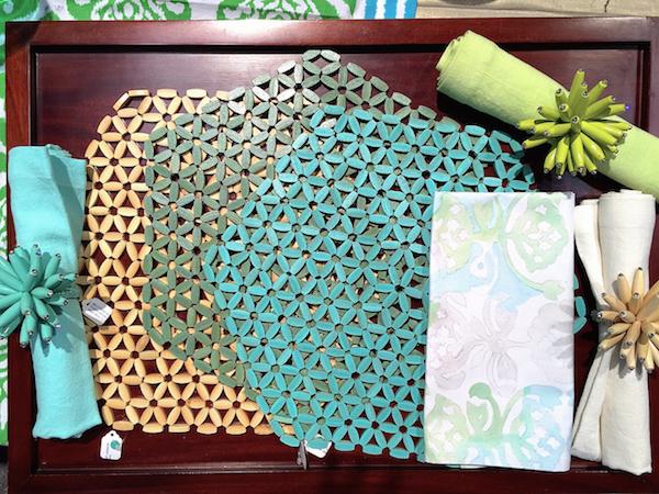 Kim Seybert Hexagonal Bamboo mats