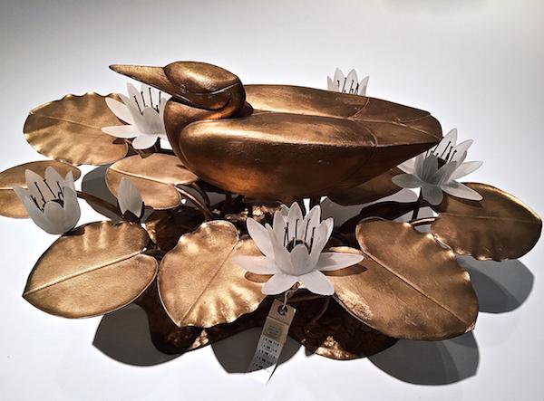 Lalanne Heron centerpiece at Christie's design auction
