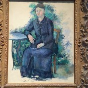 Madame Cézanne in the Garden at the Met