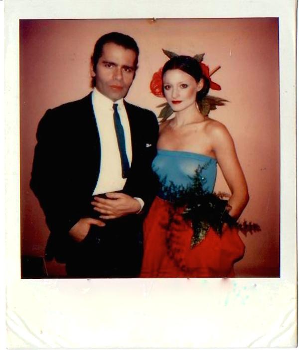 Marian McEvoy and Karl Lagerfeld