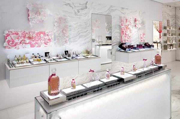 Mathilde Nivet for Guerlain Paris store