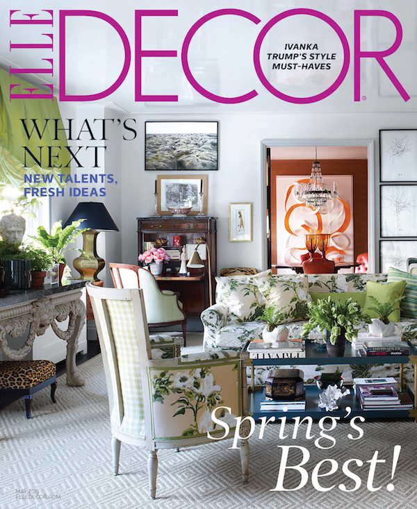 May 2015 ELLE DECOR Cover