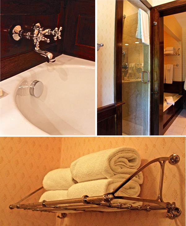 Mayflower Inn mahogany paneled bathroom