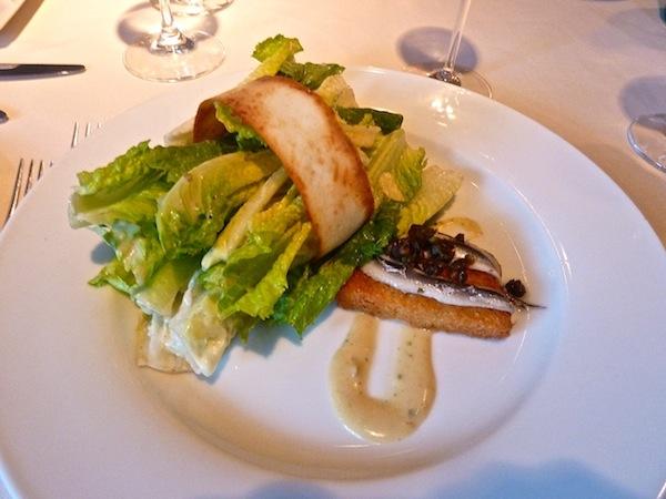 Caesar salad at the Mayflower Inn