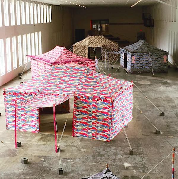 Mish New York instagram of Francesco Clemente Mass MOCA installation