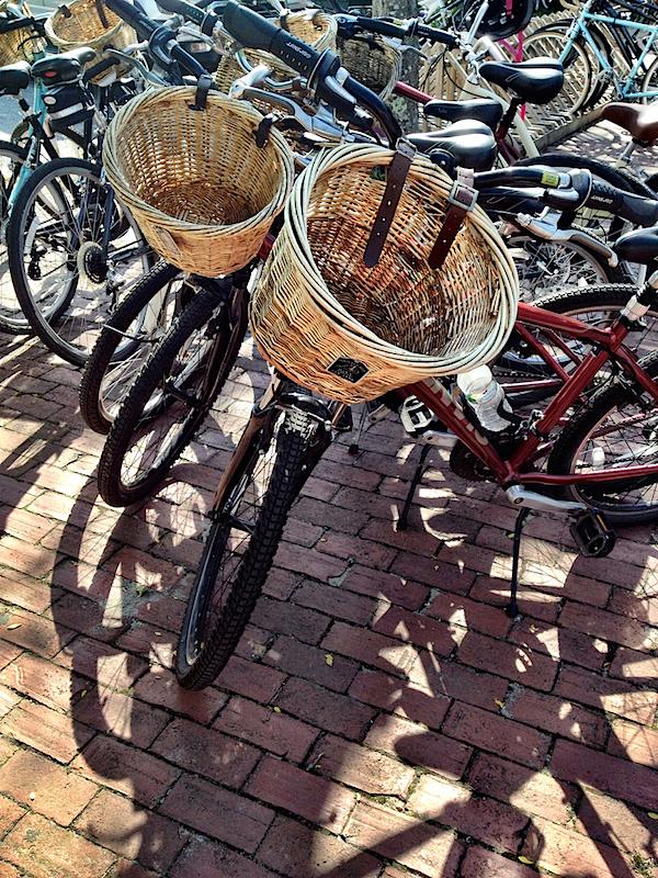 Nantucket bike baskets