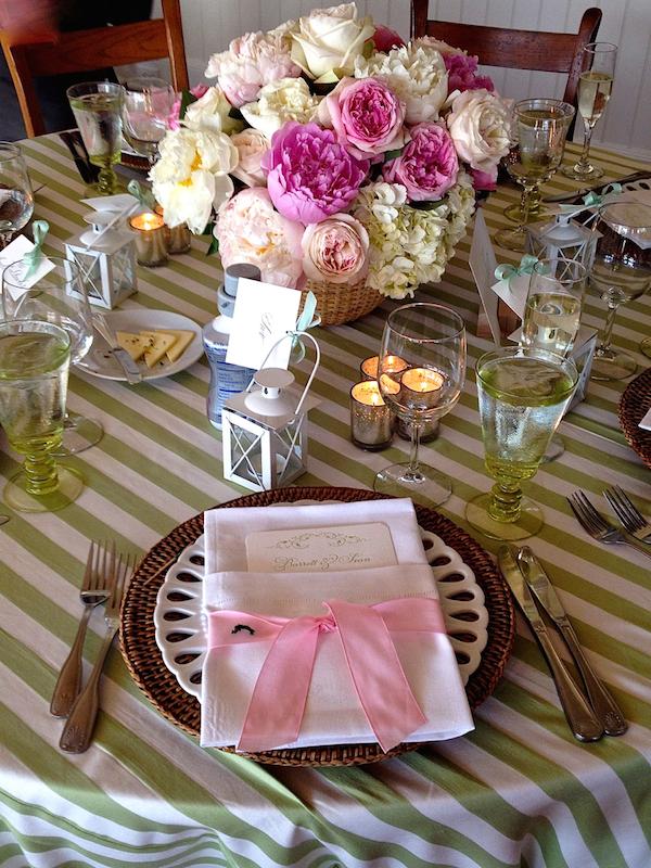 Nantucket wedding placesetting