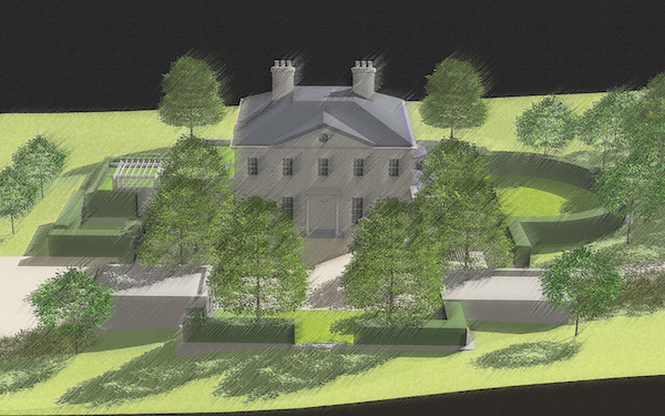 New Stone Country House_Nevins Rendering_View from North