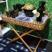 Oscar de la Renta tray on stand at NY Now 2015