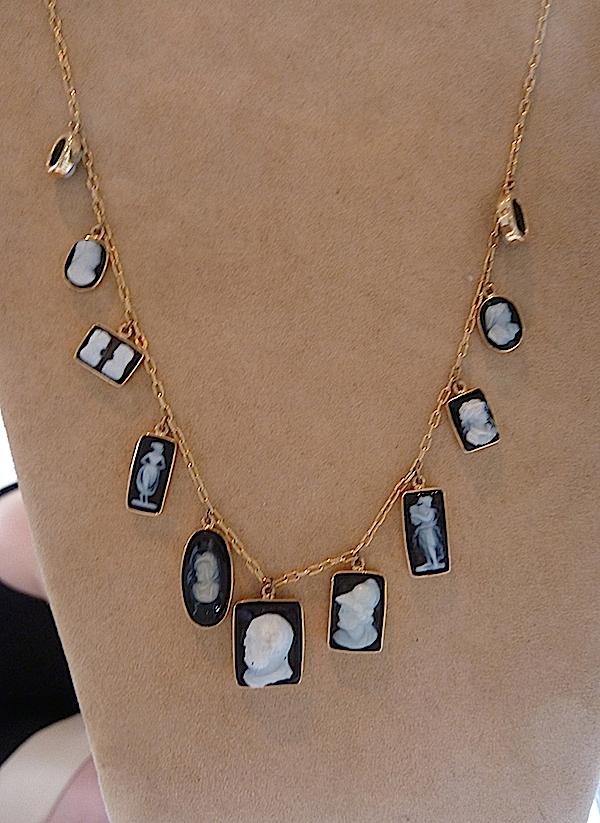 Camilla Dietz Bergeron cameo necklace