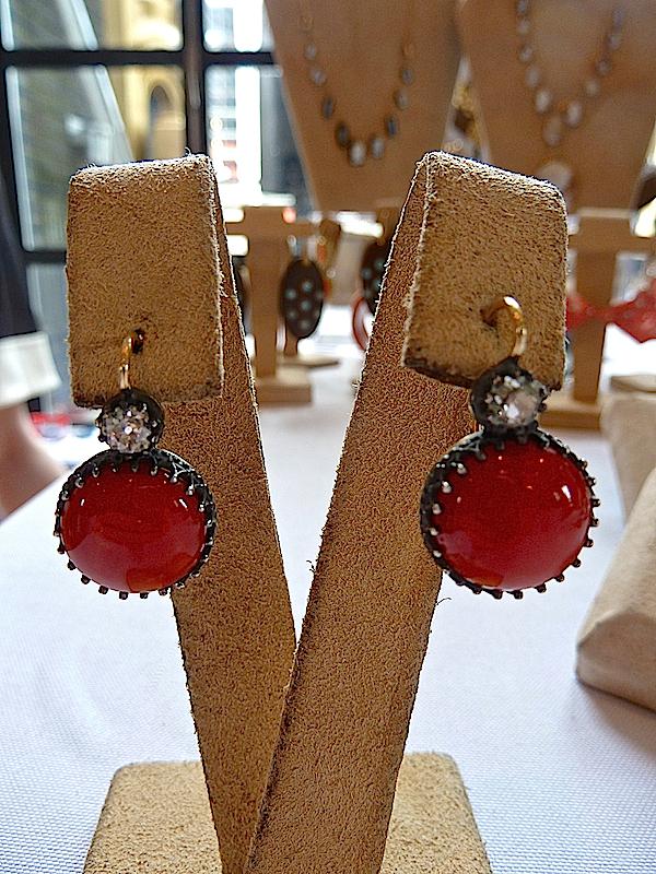 Camilla Dietz Bergeron coral earrings