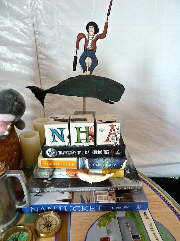 Nantucket Historical Association table at A Perfect Setting at the Nantucket Antiques Show