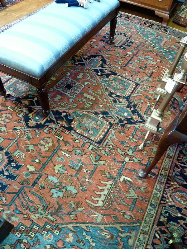 Circa 1920 Heriz rug at Rafael Osona auction