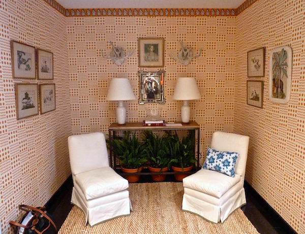 Sister Parish Design vignette for Rooms with a View designer showhouse