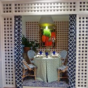 Parker Rogers vignette at Rooms with a View Designer Showhouse