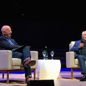 Paul Goldberger and Frank Gehry at Design Leadership Summit