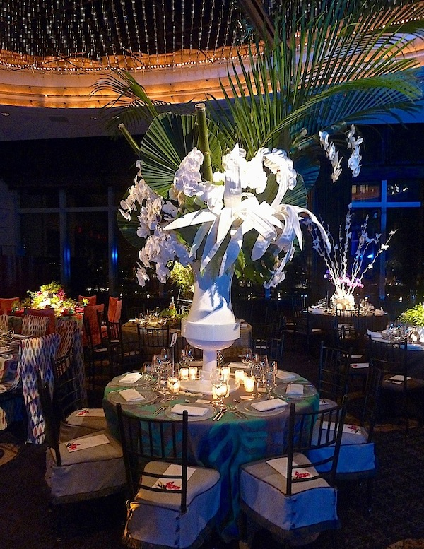 Philip Gorrivan New York Botanical Garden Orchid Dinner table