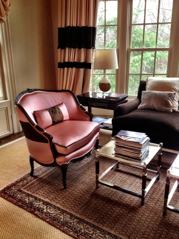 suzanne kasler in buckhead quintessence 16678 | pink and brown bedroom