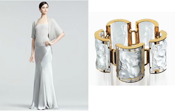 Ralph Lauren Black label Octavia skirt with Lalique jewelry