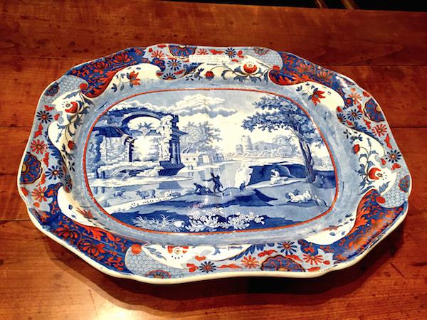 Roger D. Winter Spode platter at Antique & Design Show of Nantucket