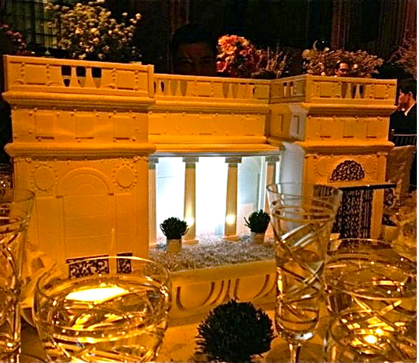 Ralph Lauren table at the Lenox Hill gala