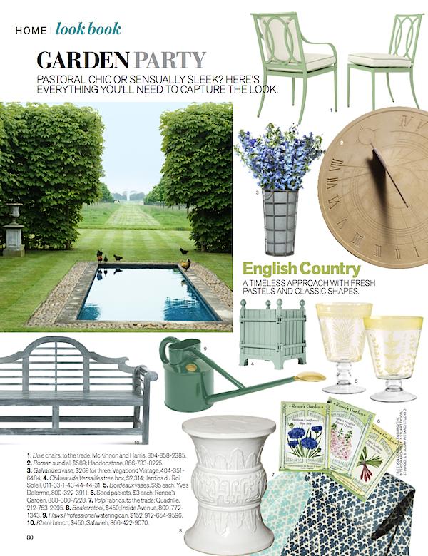 Veranda Magazine Look Book May/June issue