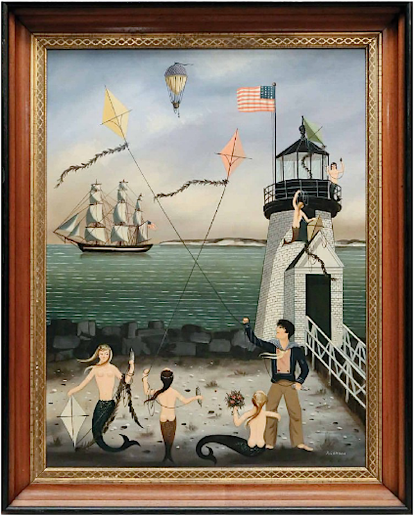 Ralph Cahoon painting at the Rafael Osona auction