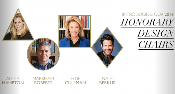 Winter Antiques Show 2016 Honorary Design Chairs