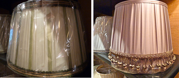 Handmade French lampshades