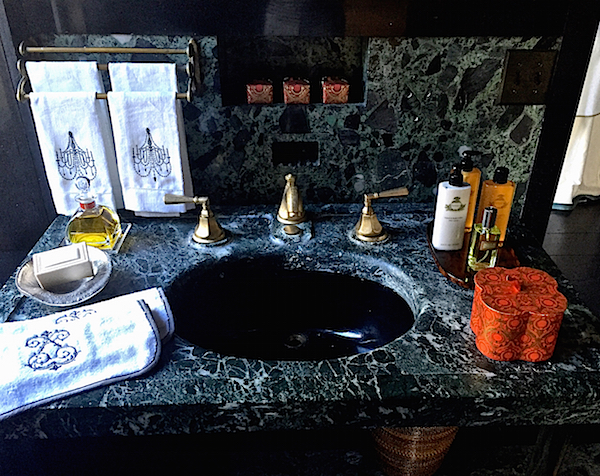 Sink in Nina Campbell Mr. Doheny Suite bath