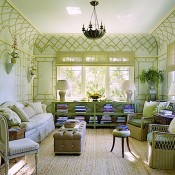 Sitting room designed by Suzanne Rheinstein