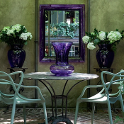 Studio Peregalli Milan townhouse garden, photo by Giorgio Possenti for Casa Vogue