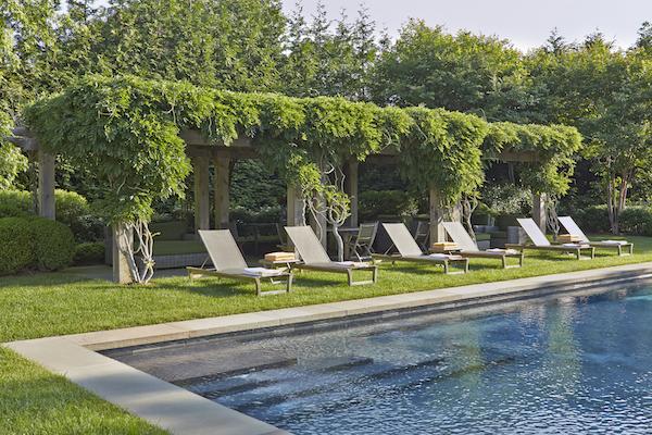 The Good Garden poolside pergola