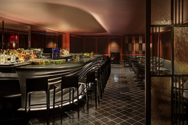 Alexandra Champalimaud design for the Trouble Trust bar at the New York Palace