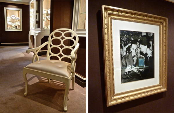 Frances Elkin chair and portrait of Fulco di Verdura