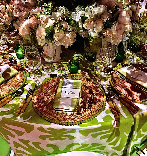 Ware and Co. placesetting Lenox Hill Gala 2015
