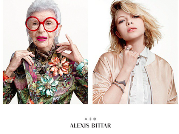 Style Knows No Age   Alexis Bitter campaign with Iris Apfel